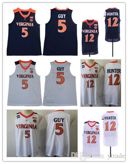 2019 мужской NCAA Вирджиния Кавальерс 12 De'Andre Hunter Кайл Гай Джерси # 5 UVA Финал Четыре ACC Вирджиния Кавальерс Колледж Баскетбол Джерси