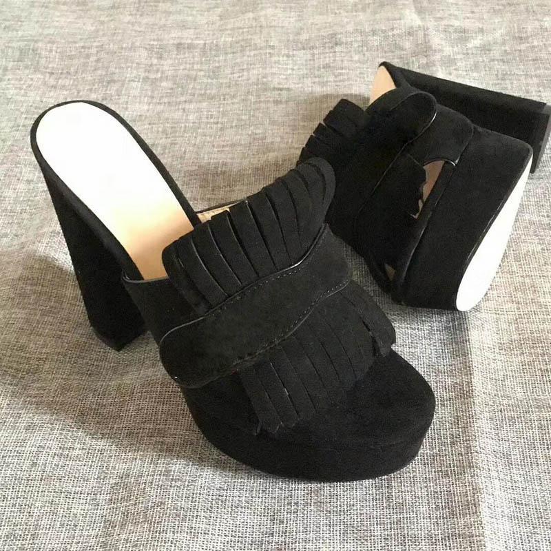 Hot Sale-Moda pantofole dei sandali per le donne tacchi alti Hot flower designer spiaggia stampato infradito dimensioni pantofola 35-41