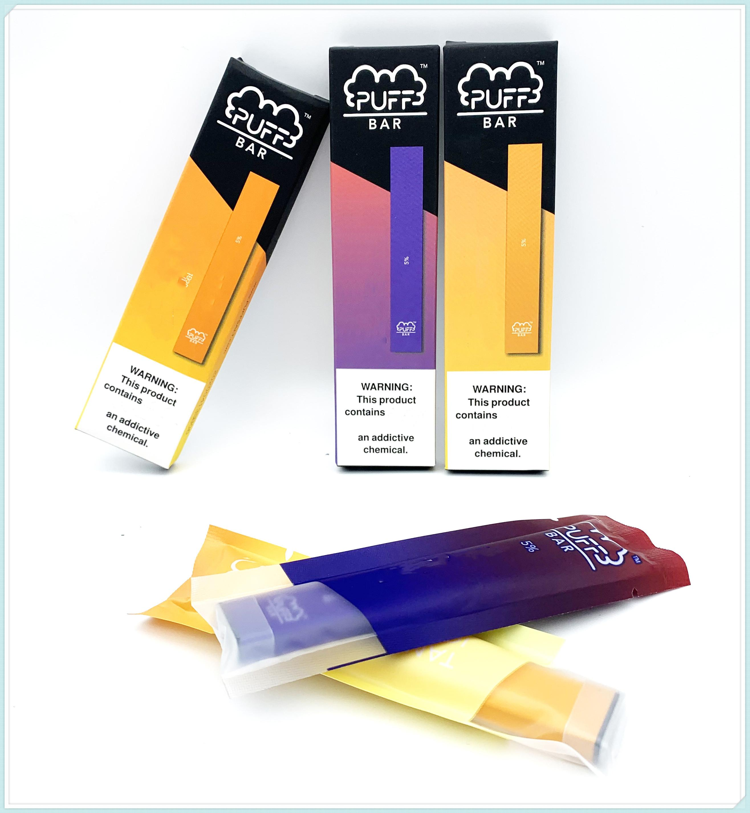 Puff Puff Bar bar dispositivo monouso Pod Vape Pen starter kit con Codice di Sicurezza 1.3ml Carrelli 280mAh batteria baccelli vuoti