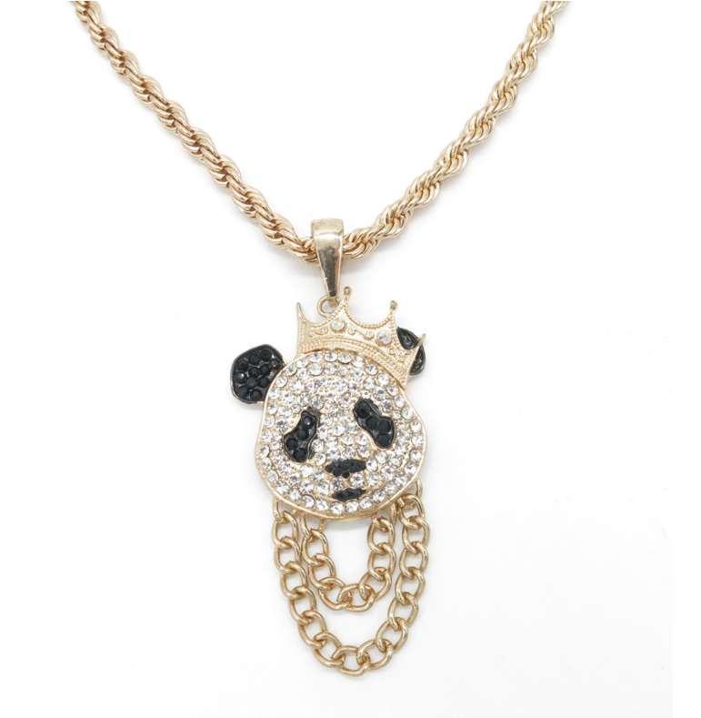 Erkek Üst Kalite Link Zinciri Yeni Fashio için Panda kolye kolye Erkekler Miami Küba kolye Tam CZ takı El yapımı CZ Bilezik Bağlantı