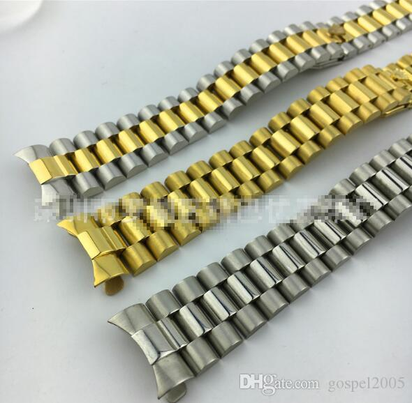 ROLXE RLOEX Spot stainless steel three beads solid strap for Rolix watch strip belt strap watch strap 20mm