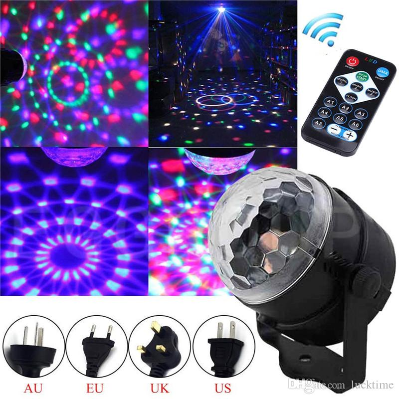 Portable stage light DJ Disco Ball Lumiere Sound Activated Laser Projector RGB Stage Lighting effect Lamp Light Music KTV Party PUB