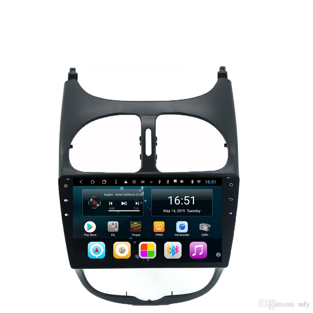 Android 9inch 8-core for peugeot 206 Car precise GPS navigation built-in Wifi microphone excellent radio system language Head Unit