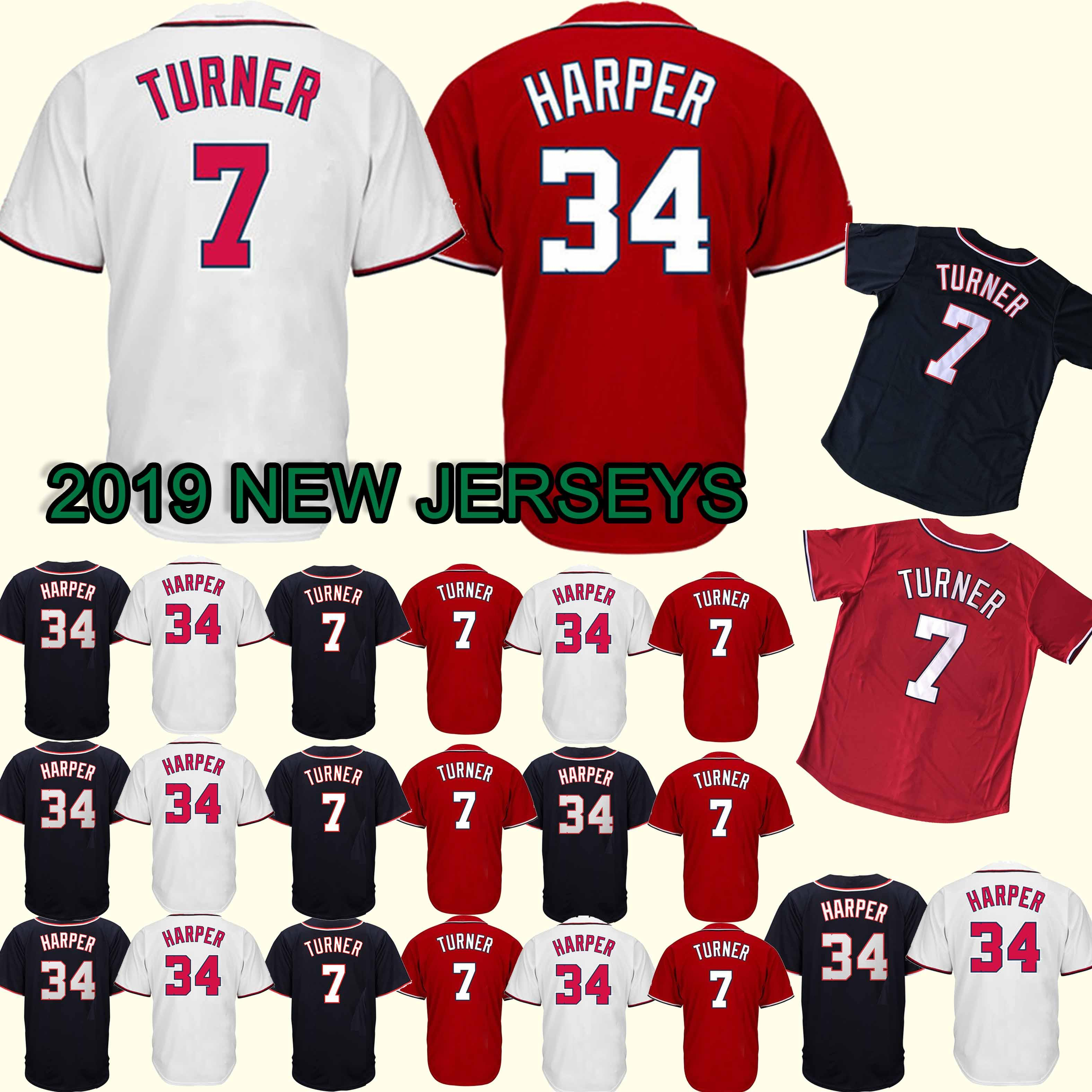new product c4749 21a55 2019 Washington 7 Trea Turner Jersey Nationals 18/19 New 100% Stitched  Superior Quality Top MEN Jerseys From Best_jerseys_store, $23.5 | DHgate.Com