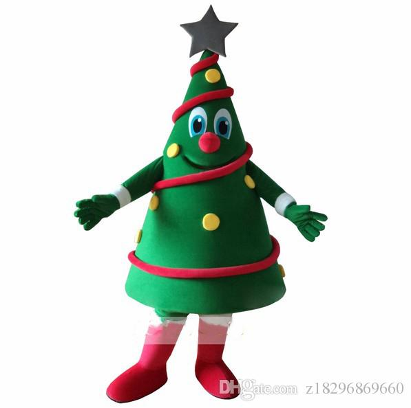Hot Sales Green Christmas Tree Mascot Costume Christmas Carnival performance apparel Free Shipping