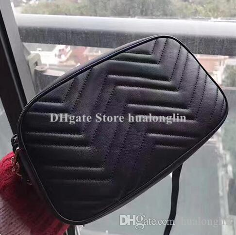 L'alta qualità del cuoio genuino delle donne della borsa del Fashion codice della data di numero di serie Marmont borsa all'ingrosso della frizione