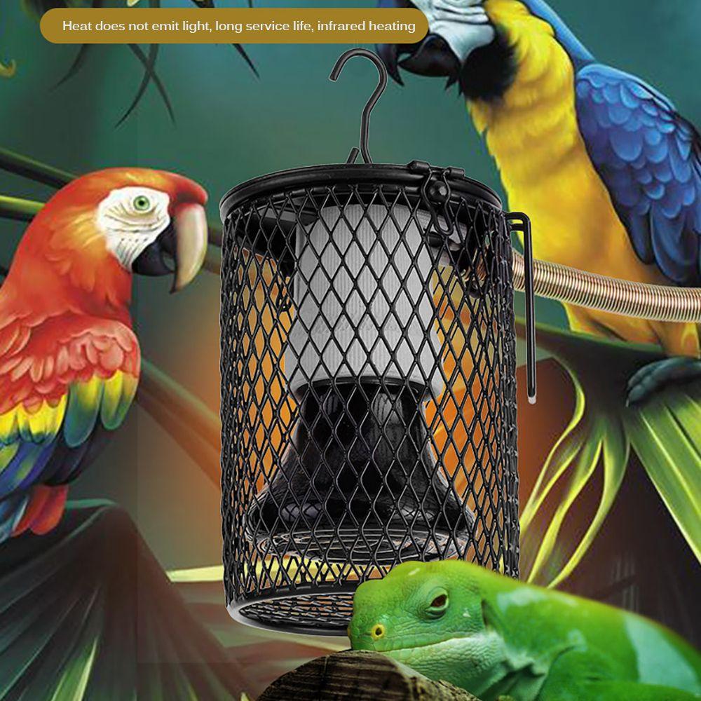 Lumière infrarouge céramique Pet Chauffage avec Cage de sécurité lampe de chaleur Emitter fournitures pour animaux Poulets lampe Reptile