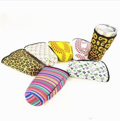 Fashion Leopard Print Rainbow Cactus Coperchio per bottiglia d'acqua Custodia in neoprene isolata Custodia per custodia per 30 once Bicchiere