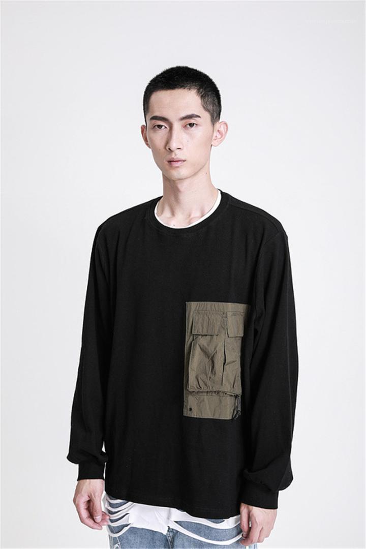 Kapüşonlular Moda Marka Uzun Kollu Kazak Tişörtü Casual Büyük Cep Lüks Erkek Giyim TKPA Erkek Tasarımcı
