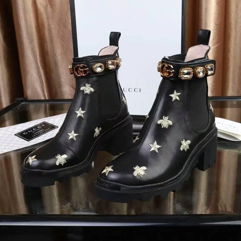 gucci shoes 2020 e inverno nuovo breve Stivali Donne casual di Corto Stivali Donne S Stivali Size 34-41 delle signore del tallone Altezza 6cm 88888