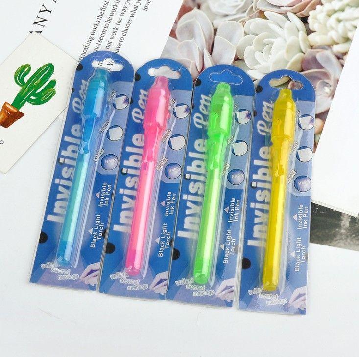 Индивидуальный Блистер Упаковка для каждого Black Light Pen, УФ-Pen С ультрафиолетовый свет / Invisible Ink Pen / Невидимый Pen