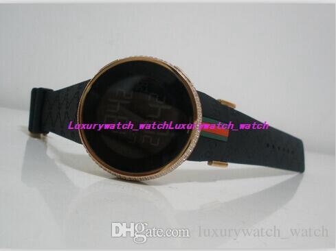 4 Estilo Relógios De Luxo Relógio De Pulso De Borracha Strap 44 MM Novo Mens Prata Ouro Digital Diamante Relógio De Quartzo Movimento Dos Homens Relógios