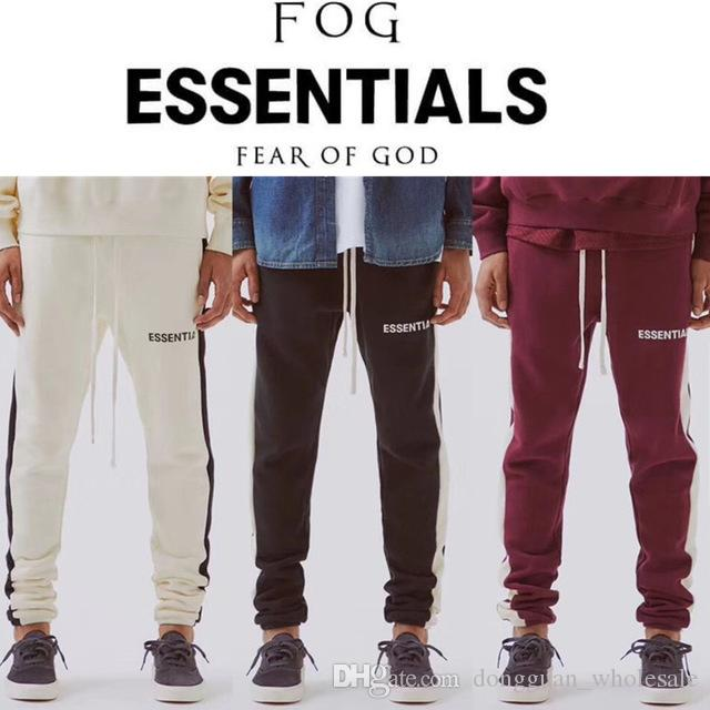 various styles limited quantity superior materials 2019 Fear Of God Essentials Sweatpants Men 1f:1 High Quality Drawstring  Tracksuit Joggers Sweat Pants Fear Of God Sweatpants From  Dongguan_wholesale, ...