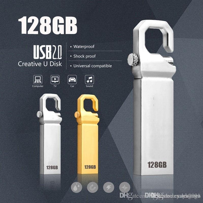 UK Wholesale wholesales price USB Flash Drive 128GB High Speed USB 2.0 Flash Pen Drive Key chain Memory Stick Gift Pendrive U77