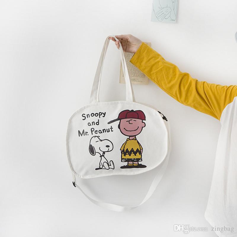 Brand Designer Handbags Fashion Snoopy Shoulder Bags Women Crossbody Bags Lady Canvas Messenger Bag Totes Top Quality