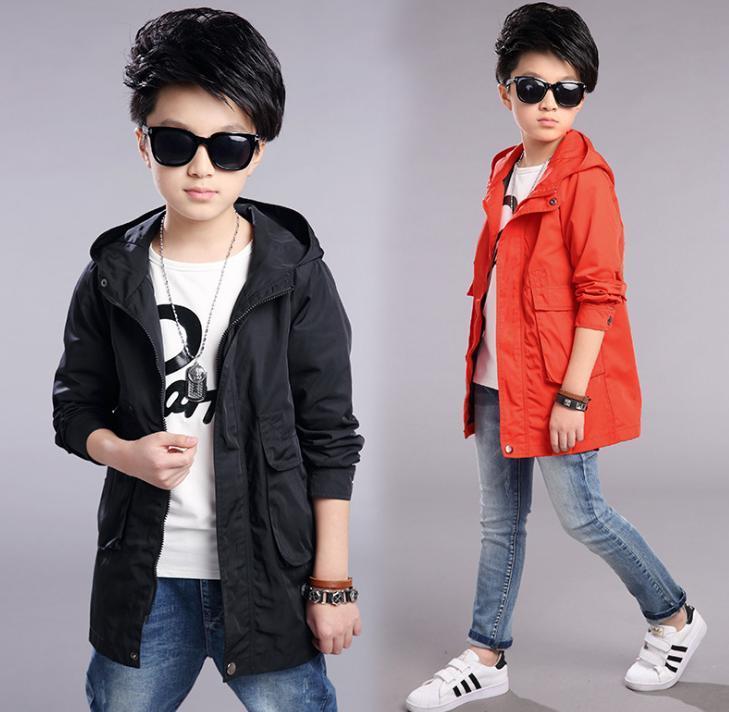bahar çocuk giyim erkek büyük çocuklar küçük torbalar ceket ceket moda rüzgar.
