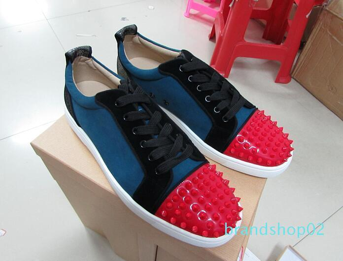 Nouveau mode Low Top Spikes Toe Red Chaussures Bas pour Hommes Femmes Designer Patchwork 9 Couleur Loisirs Chaussures Party Chaussures Drop Shipping D09 lll