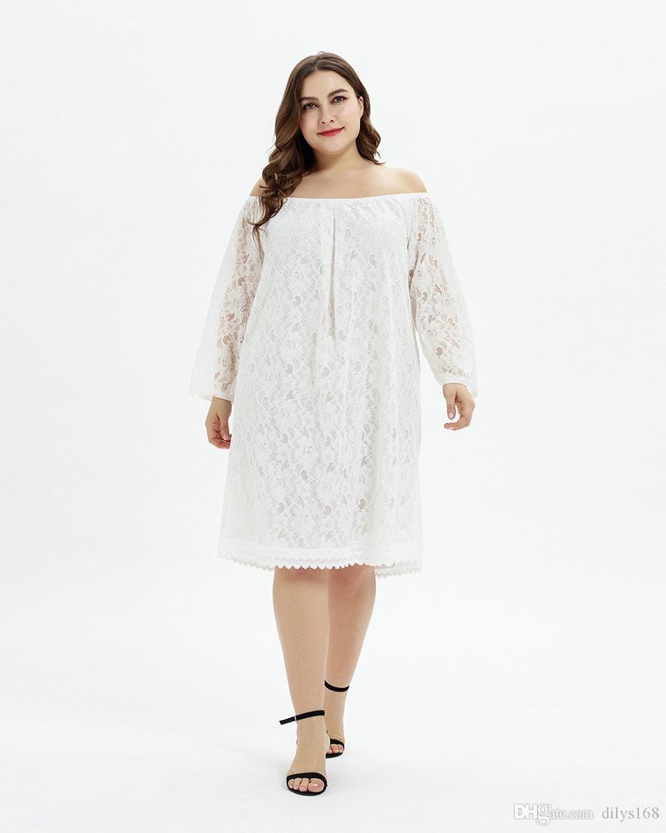 Lässige Designer-Partei Kleider Damenbekleidung Big Code Kleidung plus size Verschleiß Fat mm Erhöhung Dünger Ein Mantel und zwei Verschleiß Spitze dr