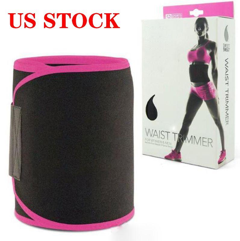 US Stock! Hot shaper Unisex Fitness Adjustable Waist Trimmer Waist Shapewear Waist Slimming Work out Sports Belt Gym Belt