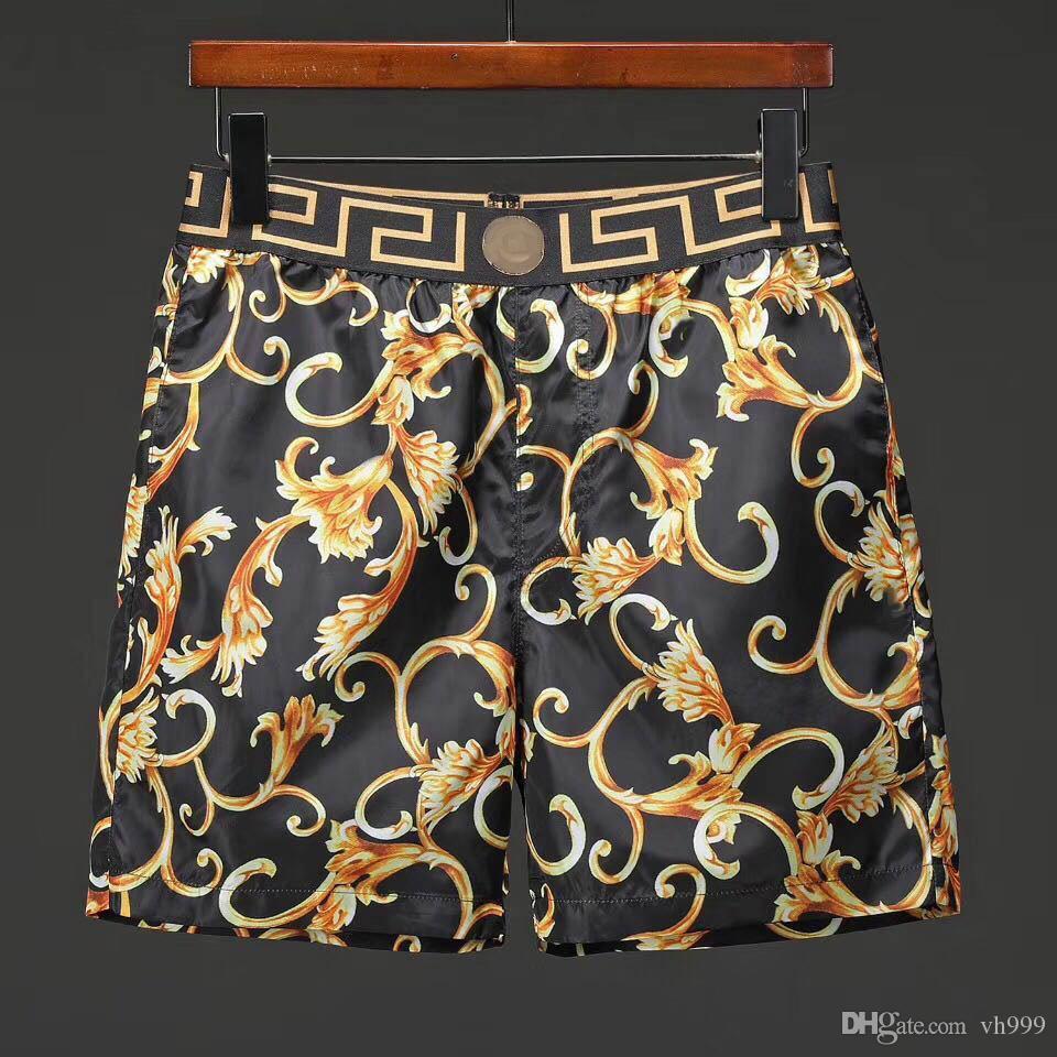 20 blanco y negro de la medusa cortocircuitos de la playa pantalones troncos de natación de los hombres de trajes de baño de los hombres de verano pantalones cortos de hombres de la tela a prueba de agua