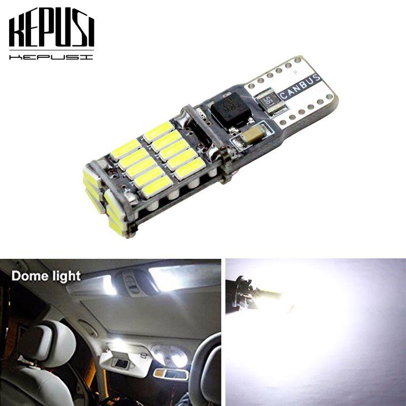 T10 W5W Canbus LED 4014 26smd Araç Gösterge Paneli lamba İç Işık 194 168 Açıklık ışık Plaka Ampul Park