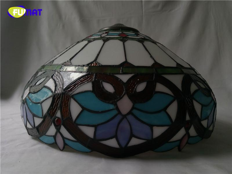Tiffany Barok Tarzı Vitray Sarkıt Avrupa Tarzı Bar Kahve Dükkanı Işık Dia 40 cm H 100 cm