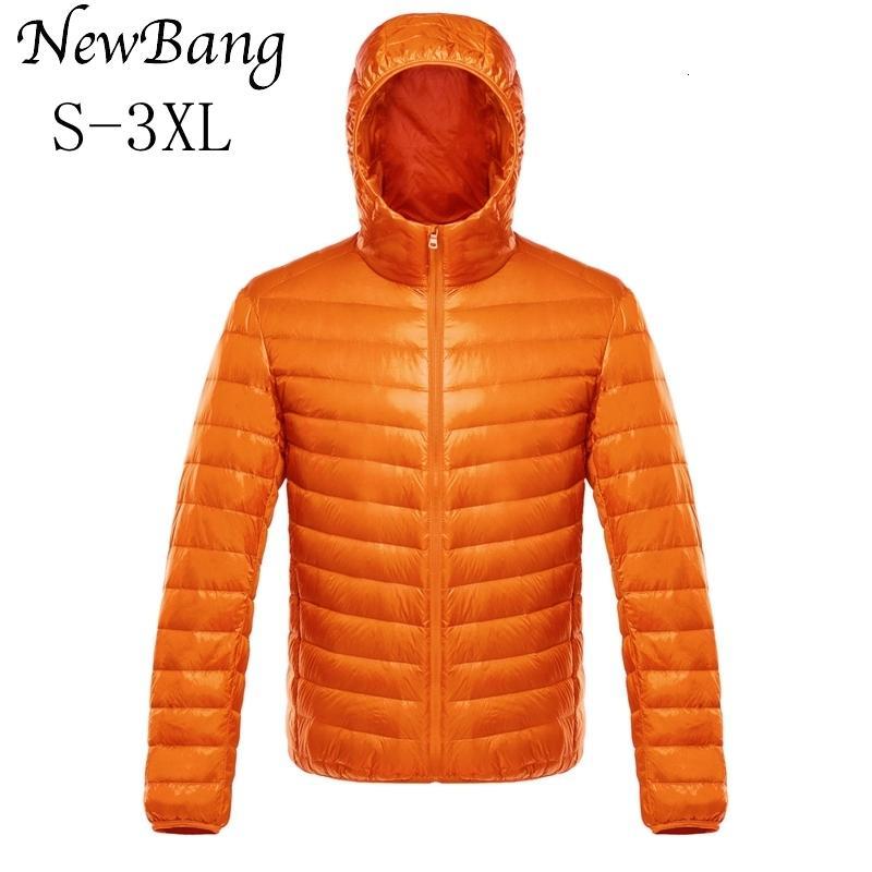 NewBang 다운 자켓 남성 울트라 라이트 다운 재킷 남성 따뜻한 재킷 윈드 경량 코트 깃털 복어 파카 깃털 코트 Y191104