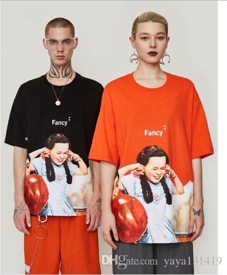 2019 verão novo criador original maré marca infantil cartoon rua dos homens t-shirt