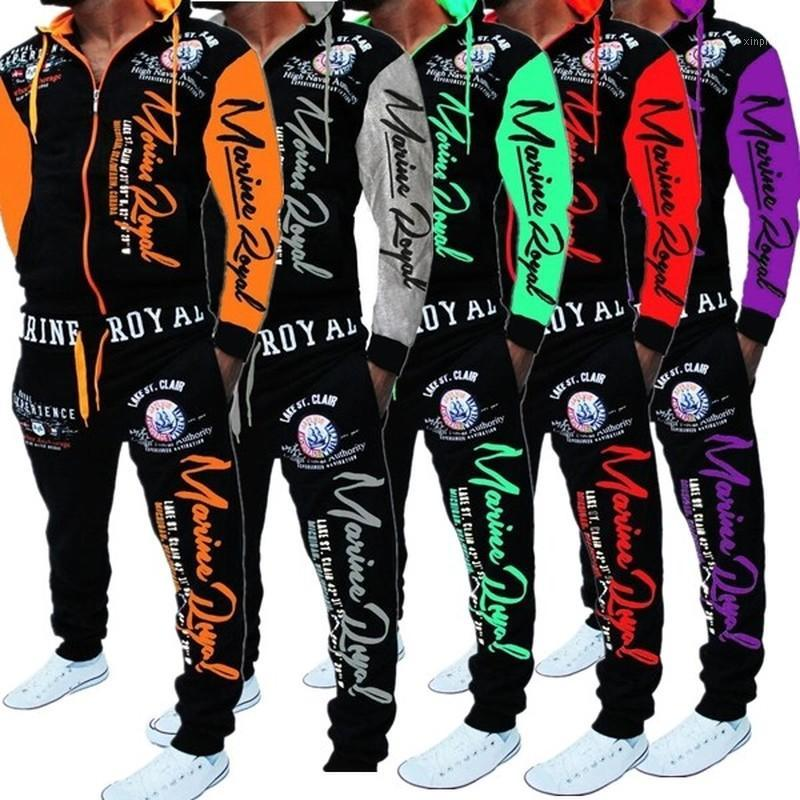 Jogger de Ternos ZOGAA Homens trilha jaqueta com capuz Ternos Sweatsuit Esportes New Men Sportswear Define Impresso Treino Homens Clothes1