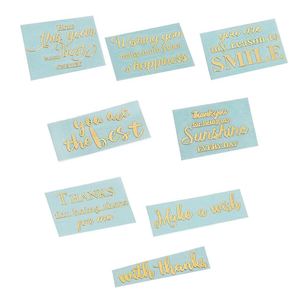 8Pcs feuille d'or Lettre cuivre métallique Motive Power Letters Résine Jewlery Making