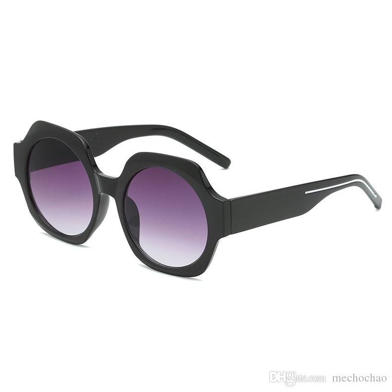 New Women's Brand designer Sunglasses Women's Men's Sunglasses Metal frame unique hexagonal plane lens coating uv400 sunglasses goggles 19