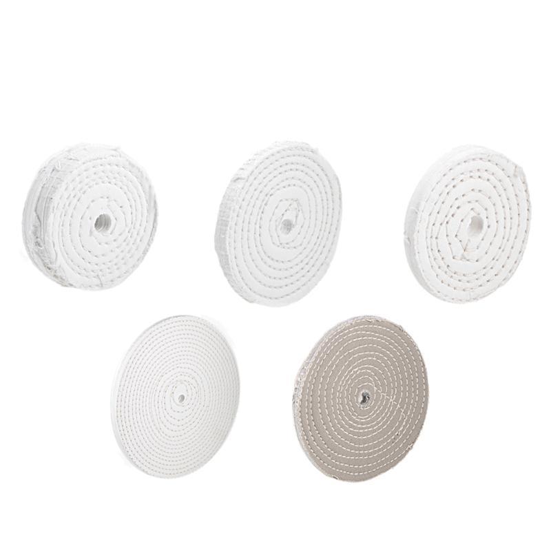uxcell 4Pcs Buffing Polishing Pad Wheel Cotton for Manifold Aluminum Stainless Steel Chrome wood plastics ceramics glass