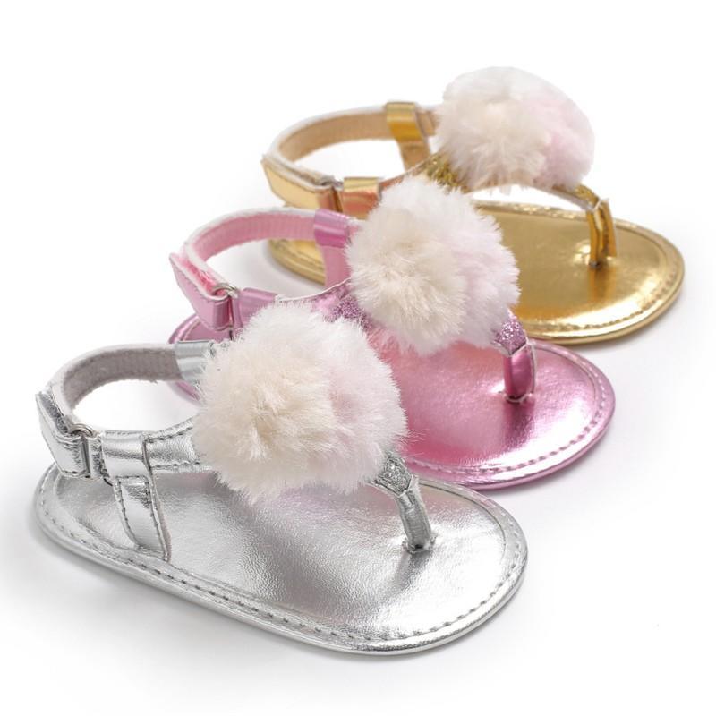 Zapatos de los bebés lactantes sandalias de la princesa verano recién nacido Prewalker del bebé de la muchacha Resbalón-en zapatos planos Dropshipper