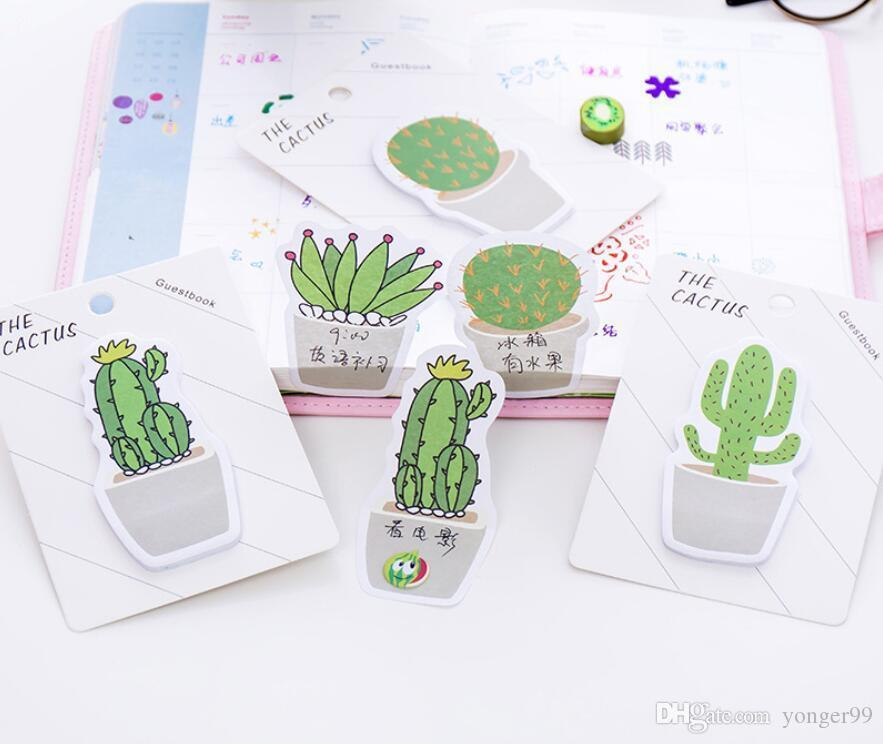 NEW Cactus Memo Pad Sticky Note Sticker Memo Book Note Paper N Stickers Stationery Office Accessories School Supplies