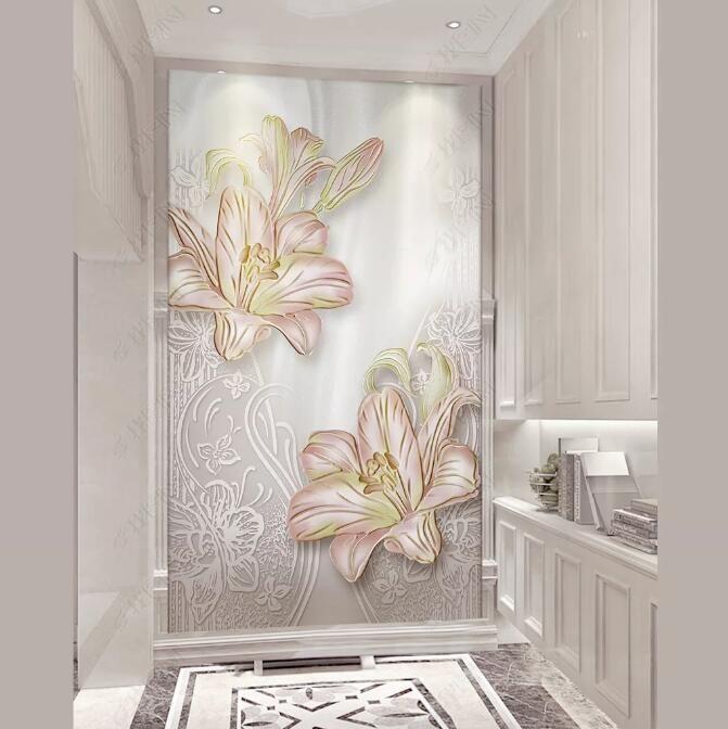 [Kendinden Yapışkan] 3D Boyalı Çiçek WG0769 Duvar Kağıdı duvar Duvar Çıkartması Duvar Resimleri Muzi yazdır