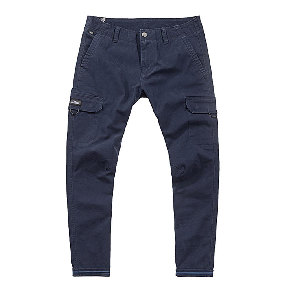 slim fit maschile chinos pantaloni moda pantaloni Mens del multi tasca matita casuale pulsante pantalone uomo cotone comodo pantalone # g40