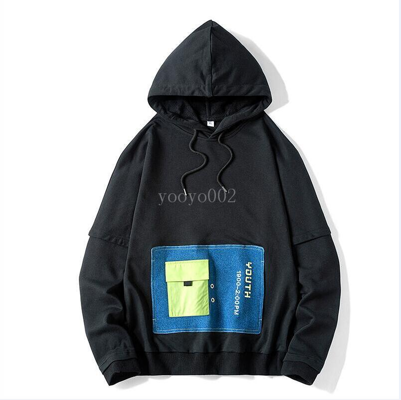 Hoodies مصمم جديد للرجال ربيع Mens قميص Hoodie طليق نمط الشتاء l02fashion Tide Slim Pullover Blue white black Pattern