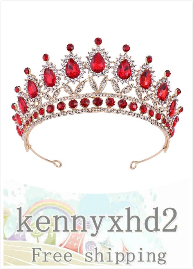 2020 Dinner Jewellery H1221 new bridal headdress Baroque crown crystal diamond crown hair band wedding hair dress accessories