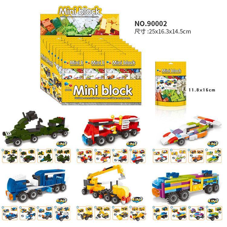 24صندوقا في مجموعة واحدة 6 أنواع من جسيمات السيارات المجمعة تجمع لبنات البناء البلاستيكية ألعاب الأطفال التعليمية