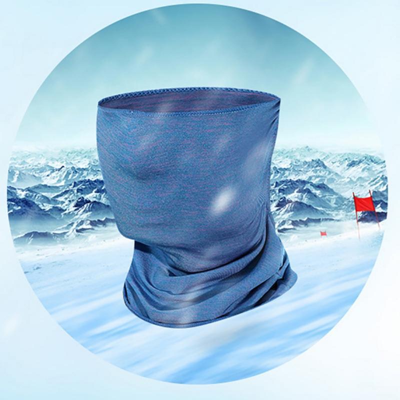 Maske Seide Sportgesicht Schal Trockeneis Atmungsaktiv läuft Schnellbandana Maske Anti-UV-Radsport-Stirnband Gesichtstraining LVFIE