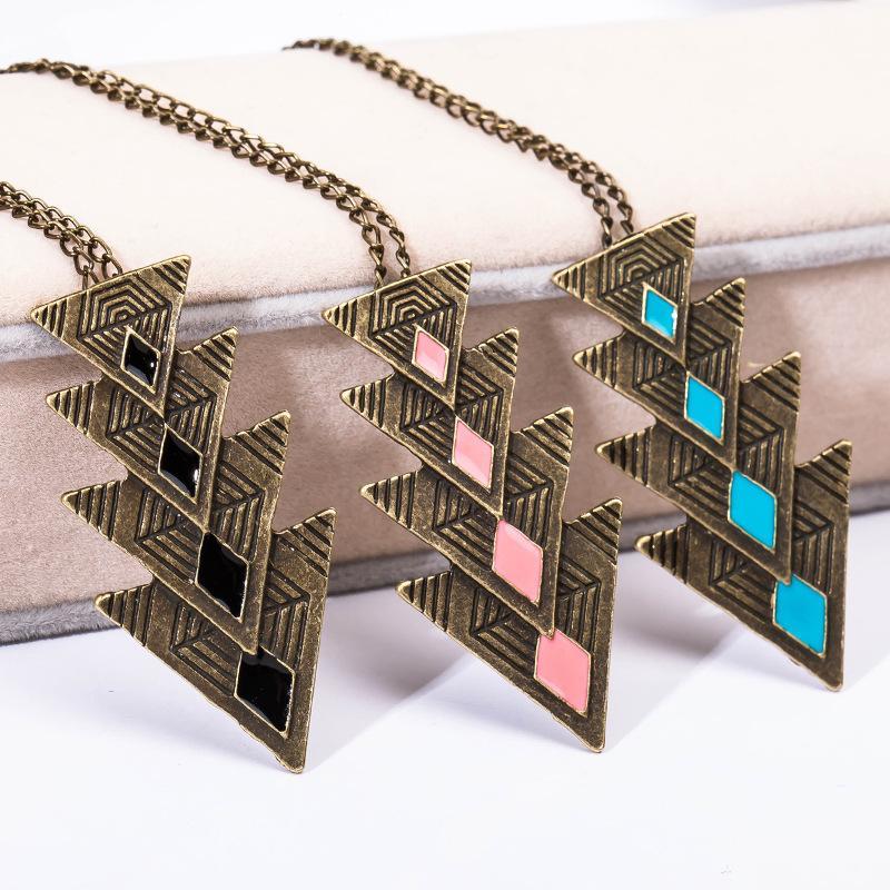 Collier Gypsy Bohème Colliers Sculpté Ethnique Turc Tribal Chic Boho Bijoux Flèche Colliers