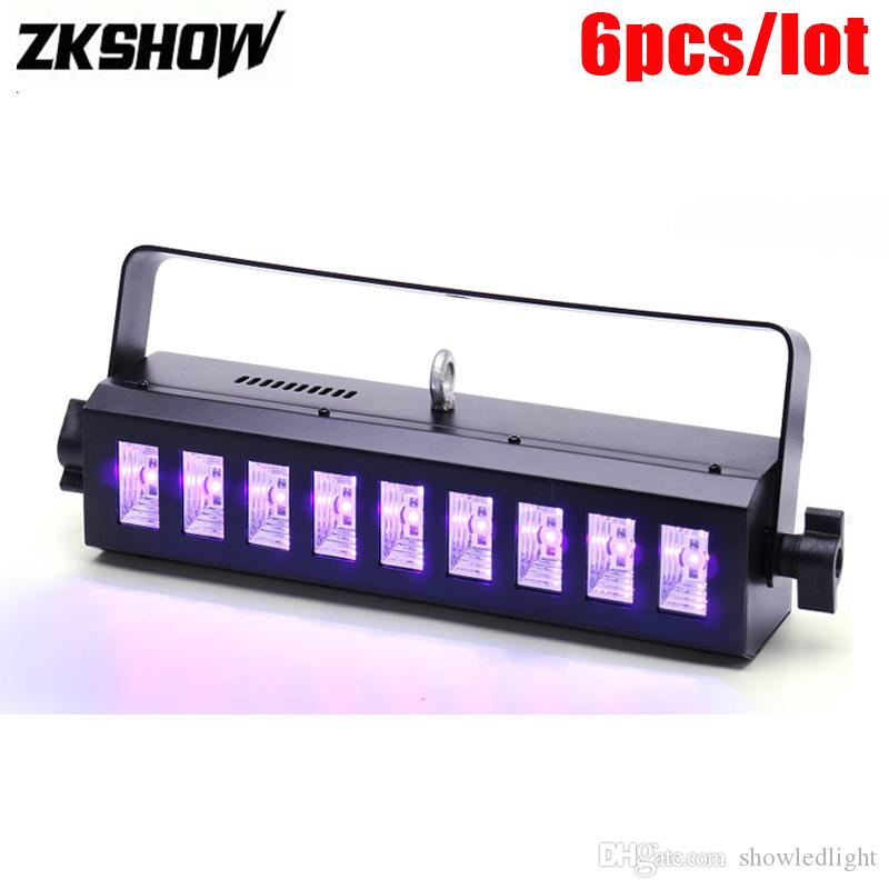 Desconto 3W UV Roxo LED Bar Light DMX DJ Disco Party Stage Lighting Effect Luces De Discoteca Professional Professional LED Machine A Fumee DJ Pyro