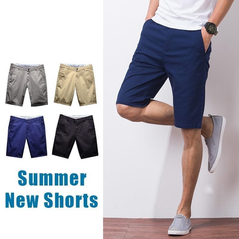 40 Plus Size Hommes Summer Fashion Casual Conseil Bermuda Beach Shorts Hommes Coton Solide Couleur Denim Masculina Shorts Pantalons courts