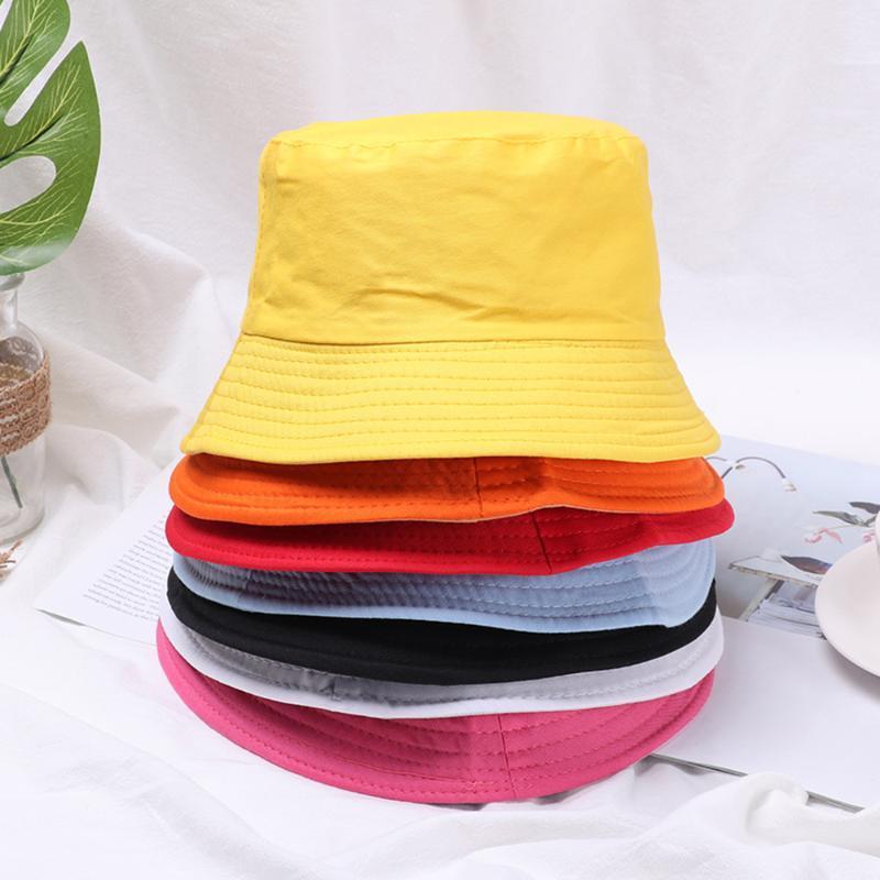 Unisex Algodão Bucket Chapéus protetor solar dobrável Caça Cap Bacia Chapeau Outdoor Sun Prevent Hat por Mulheres Homens Criança