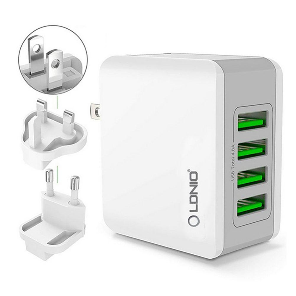 LDNIO A4403 4-Port USB Wall Charger Adapter 5V 4.4A Universal Travel Power Charger For iPhone 11 Pro Max X XS Huawei Samsung Xiaomi