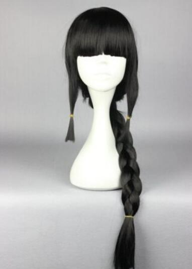 무료 배송 + + 새로운 보그 섹시한 여성의 긴 검은 색 코스프레 파티 가발 패션 숙녀 묶어 줘 가발