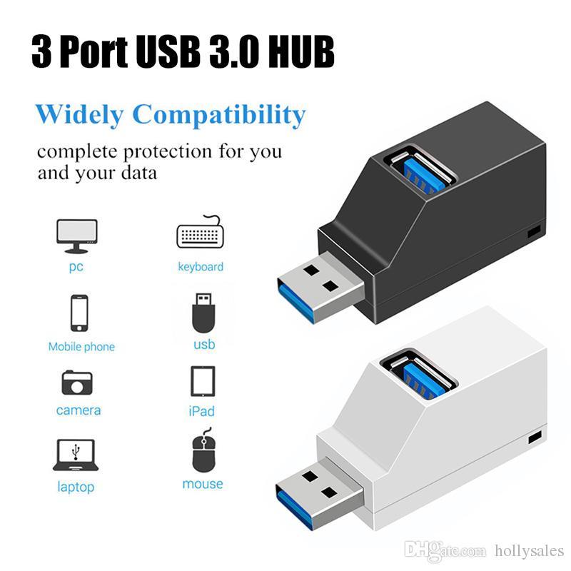 USB2.0 High Speed 3 Port Splitter Hubs AdapterFor PC Computer.Laptop Extender LB