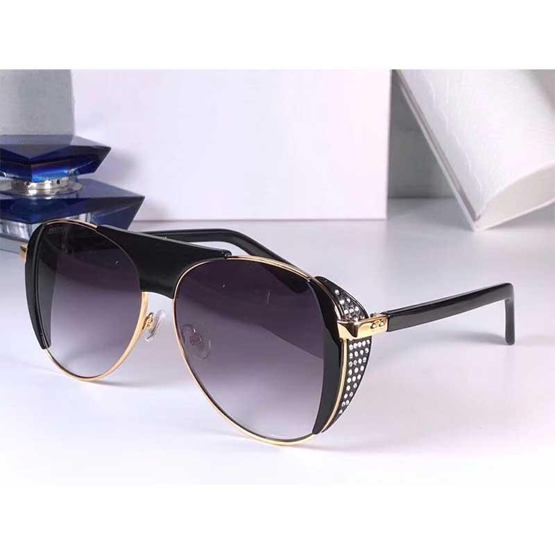 RAVE más reciente de Flash Swarovski diamante Marca Gafas de sol Gafas de sol piloto Marco de Diseño de moda de lujo de calidad superior hecha a mano original de la caja