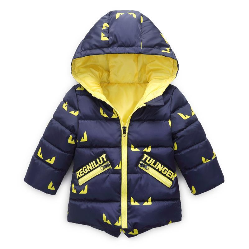3-11Yrs YENI BoysGirls Pamuk Kış Moda Spor CeketOutwear, Çocuk Pamuk yastıklı Ceket, Erkek Kız Kış Sıcak Ceket
