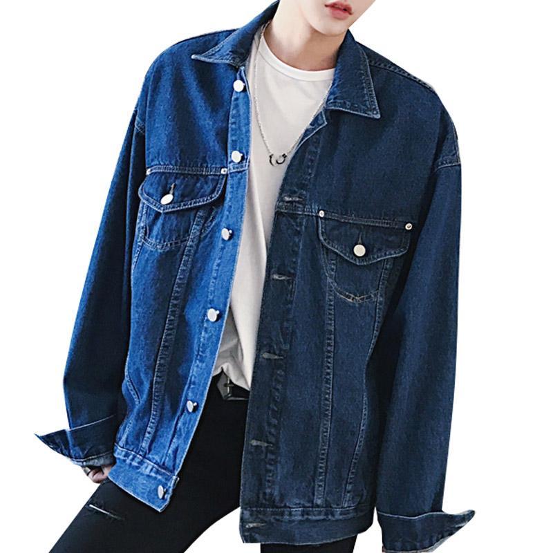 Homens Mulheres Rua Hiphop Moda Jean Jacket Oversize soltas Denim Jacket masculino azul denim outwear fz0214 Brasão